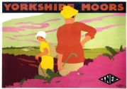 Yorkshire Moors. Vintage LNER Travel poster by Tom Purvis.